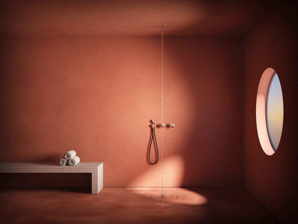 ANTONIOLUPI GHOST soffione doccia Scompare alla vista, lasciando all'acqua e al suo effetto rigenerante il ruolo di unica protagonista